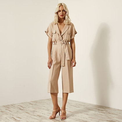 Access beige cropped jumpsuit 5518107