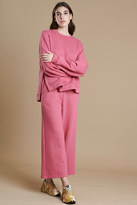 House of Angels pink cropped sweat pants in loose line S21927