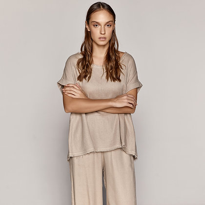 Access blouse in loose line