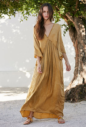 Mes Demoiselles Smooth long dress in bronze colour