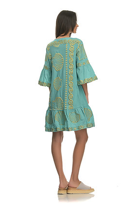 NEMA Arethusa three quarter sleeve dress with embroidery 2021