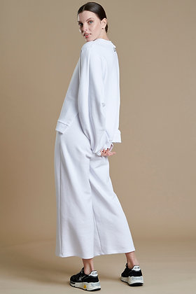 House of Angels white cropped sweat pants, loose line S21927