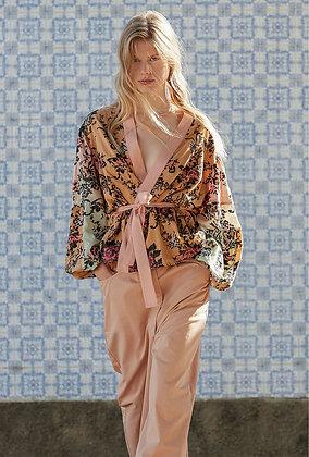 Mes Demoiselles Iris kimono with embroidery