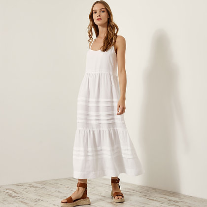 Access off white long dress with straps