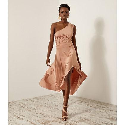 Access one shoulder elastic dress 3535372