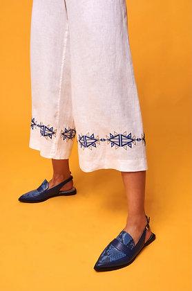 NEMA Titania white trousers with embroidery 41014
