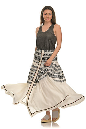 Devotion long skirt with embroidery 020308