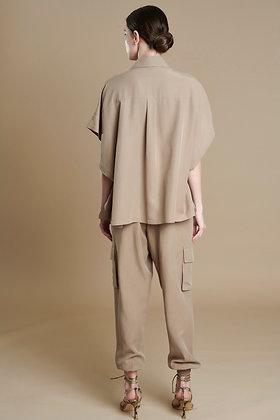 Avant Garde beige pants with pockets