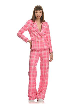 Forever Unique plaid pink blazer