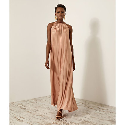Access long pleated dress in powder pink colour 3608372