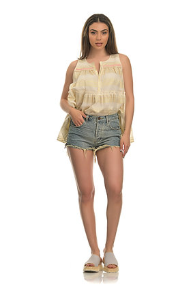 House of Angels  sleeveless top with golden stripes