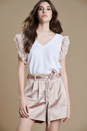 Avant Garde blouse with powder detail sleeve S21762
