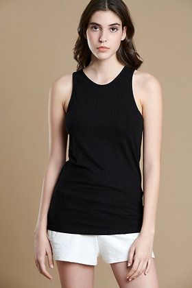 House of Angels black sleeveless rib top S21712