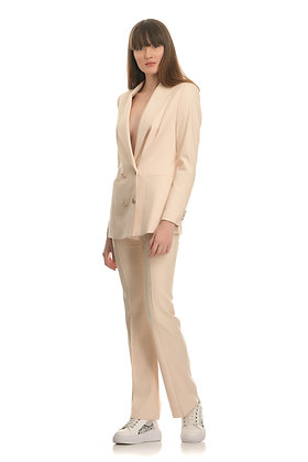 Josh V suit pants in pastel peach colour