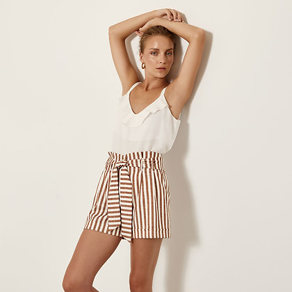 Access shorts with tobacco stripes