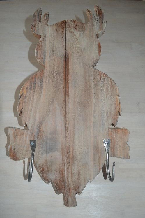 Owl Coat Rack w/Hand Forged Hooks