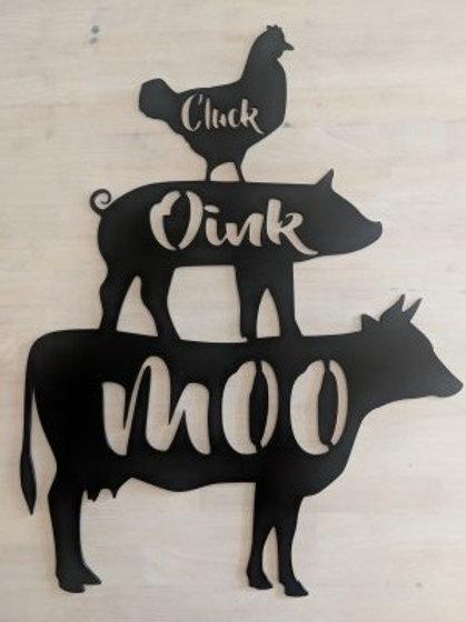 Chicken, Pig, & Cow