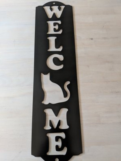 Cat Welcome-Vertical