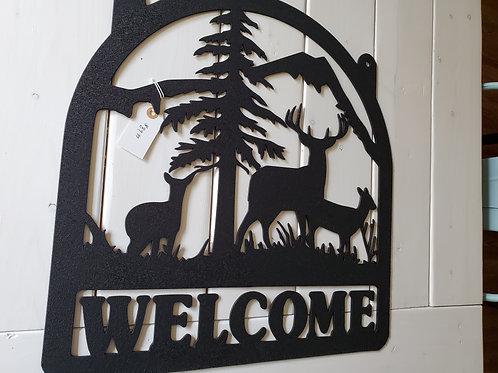 "Clearance: Three Deer ""Welcome"" w/Hang Holes"