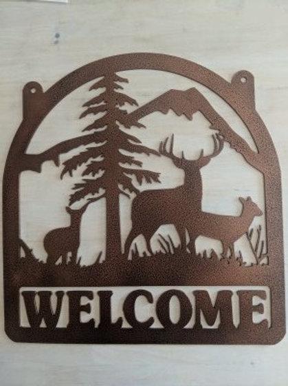 """Three Deer """"Welcome"""" w/Hang Holes"""