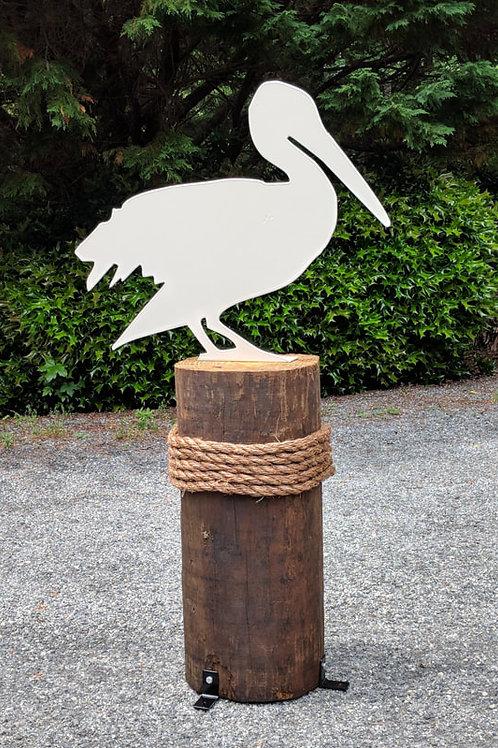 Life Size Pelican w/Mounting Bracket
