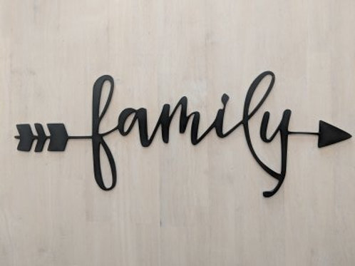 """family w/Arrow"" Cursive"