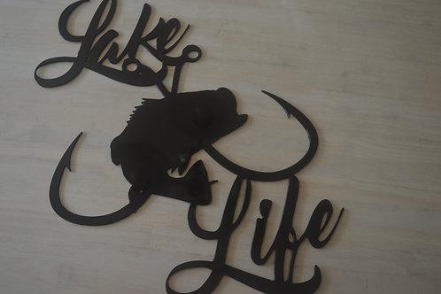 Lake Life--Bass w/Crossed Hooks