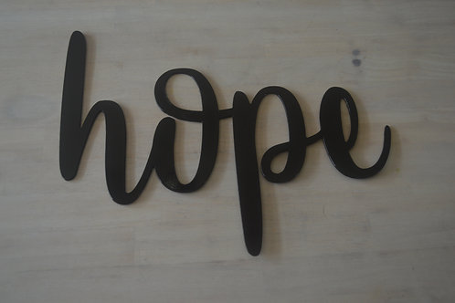 """hope"" Cursive"