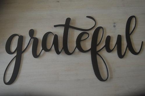 """""""grateful"""" Cursive"""