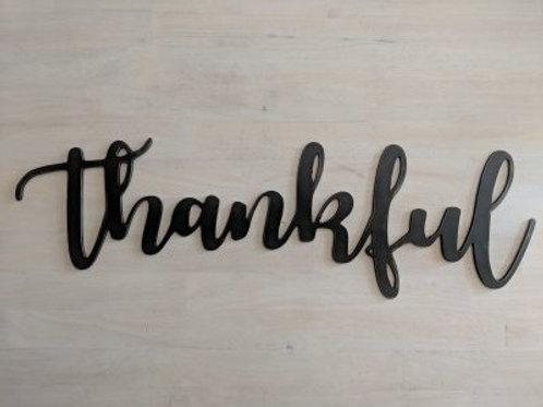 """thankful"" Cursive"