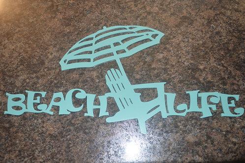 Beach Life-Chair & Umbrella