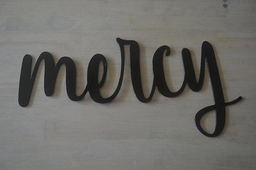 """""""mercy"""" Cursive"""