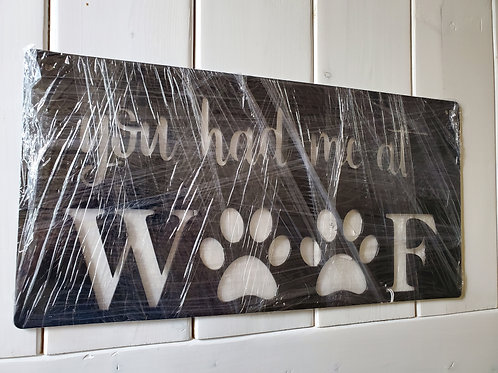 Clearance: you had me at WOOF