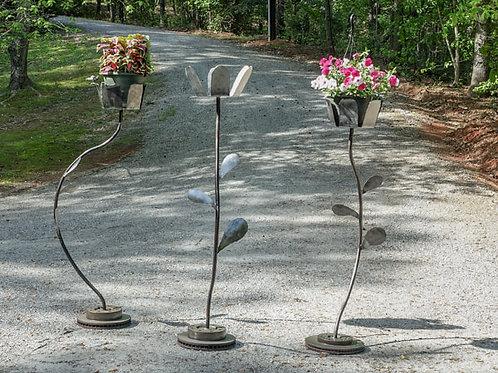 Tall Flower Petal Planter