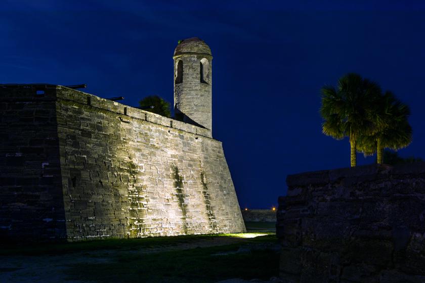 Night at Castillo de San Marcos