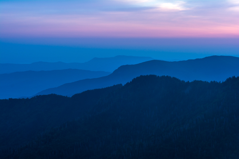 Blue Hour in the Smoky's