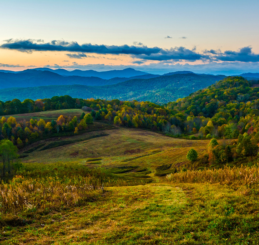 Autumn Morning at Max Patch