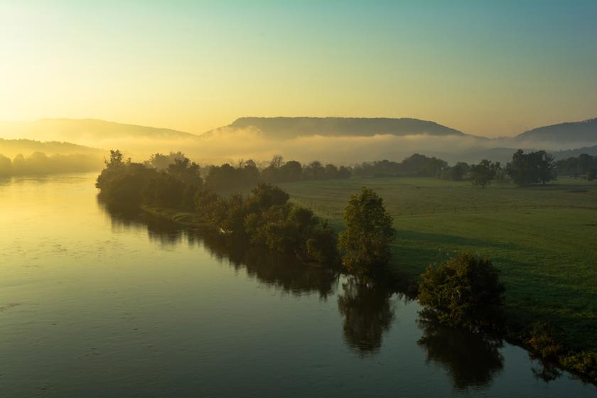 Morning View from Goshen Valley Bridge