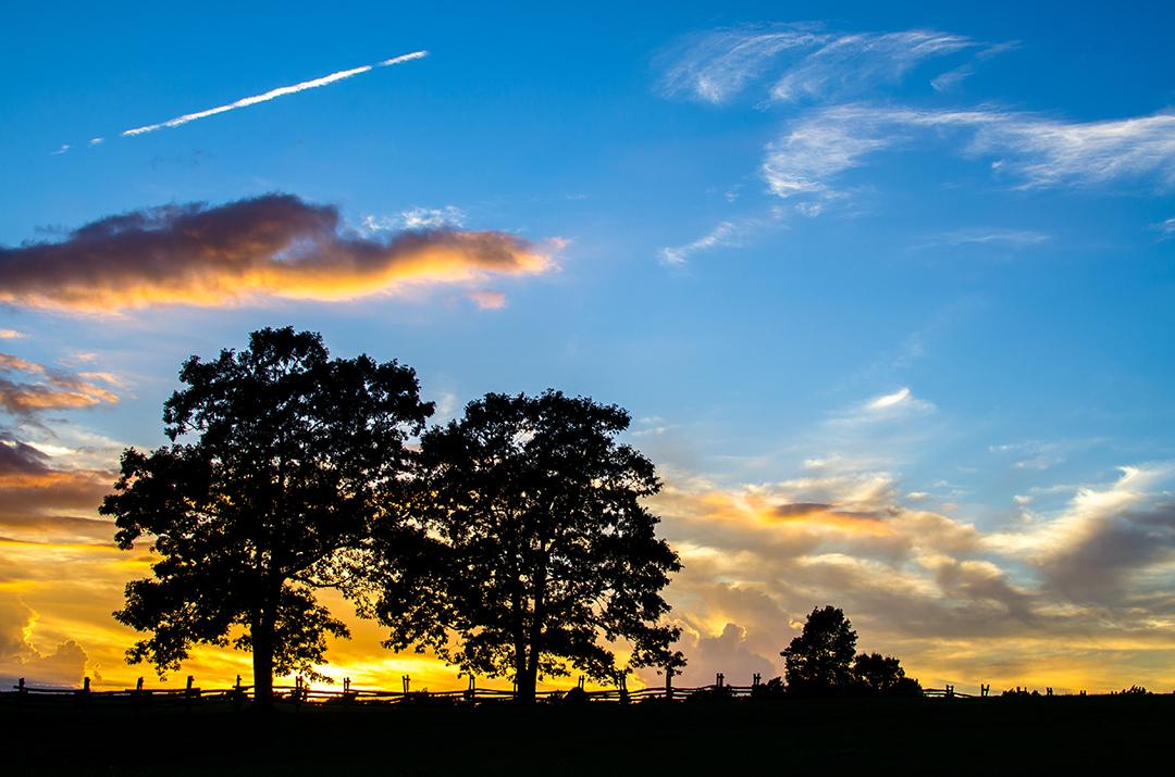 Sunset at the Hensley Settlement