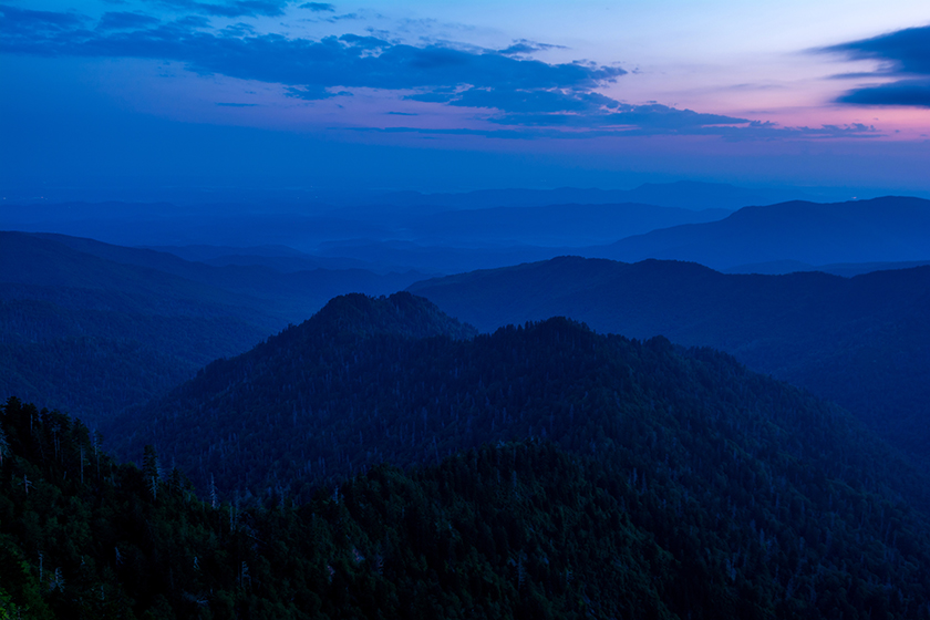 Blue Hour Over the Smoky's