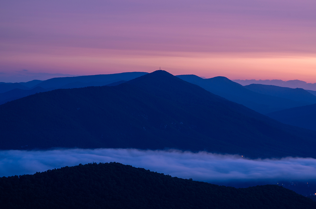 Morning Glow Over the Blueridge Mtns