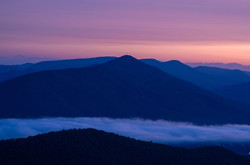 Morning Glow Over the Blueridge Mtns