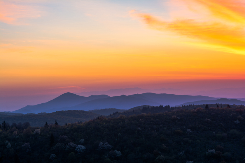 Sunrise Over Mt. Pisgah
