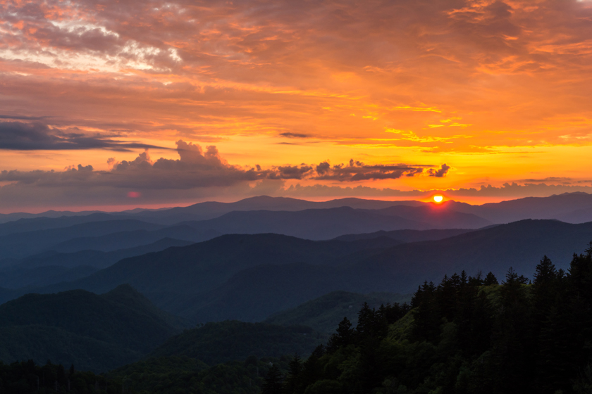 Sunset in Western North Carolina