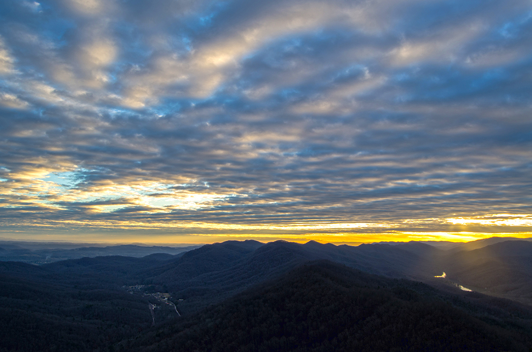 Sunset from the Pinnacle