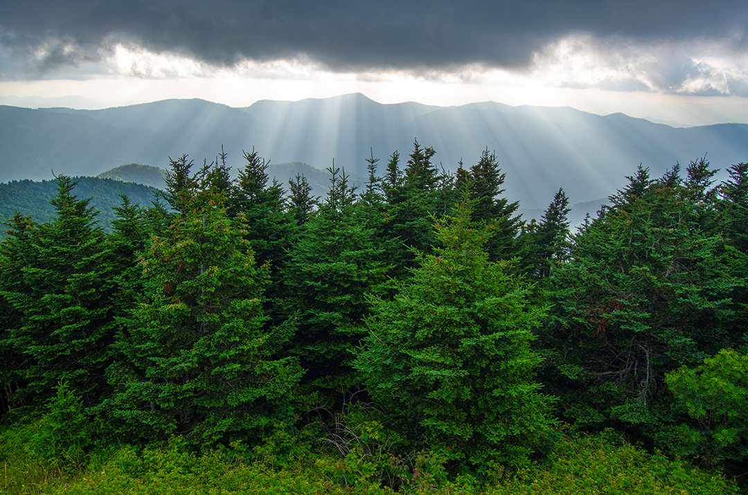 Light & The Blueridge Mountains
