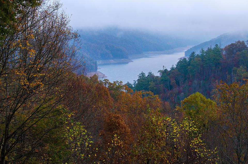 Autumn Color at Fontana Lake