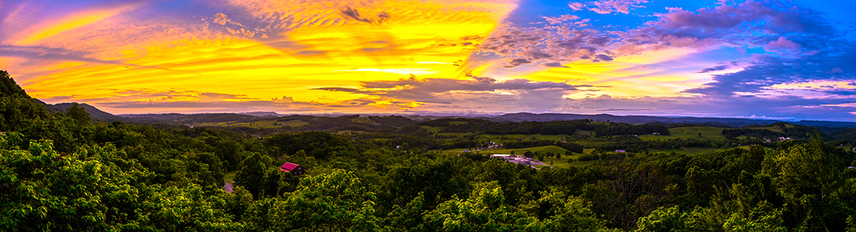 Sunset from Clinch Mountain