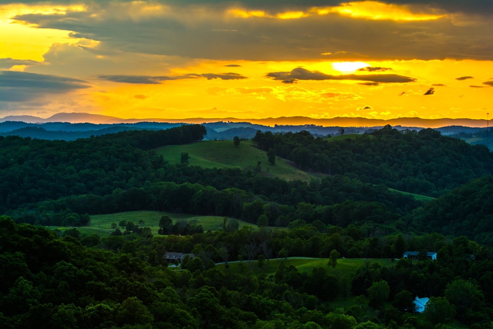 A Blue Ridge Sunset