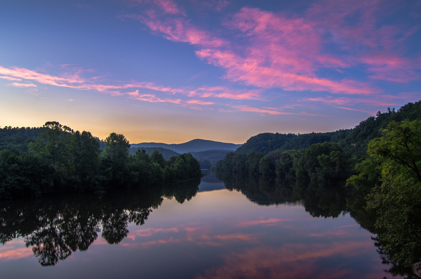 Pink Sky Reflections Along the James River